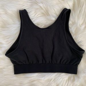 adidas Tops - Adidas Trefoil Black Workout Crop Top Size Small
